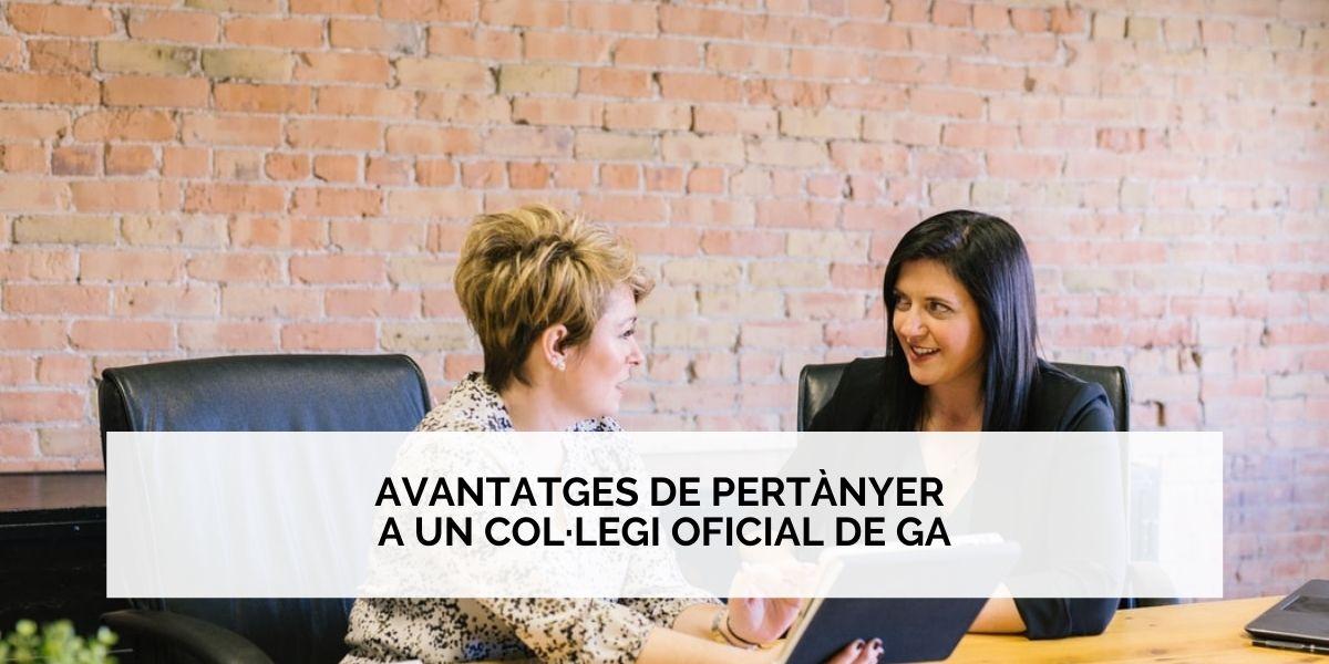 Avantatges de pertànyer a un Col·legi Professional de Gestors Administratius